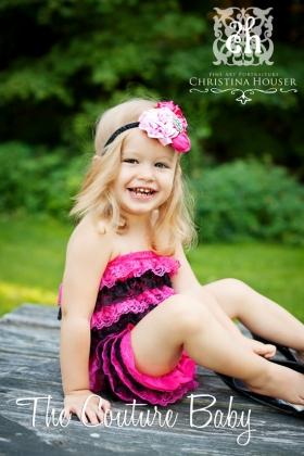 Hot Pink & Black Petti Romper