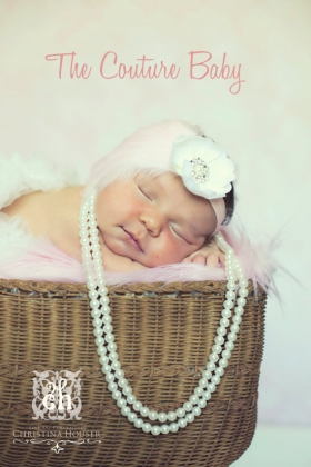 Baby Pink & Ivory Feather & Flower Headband