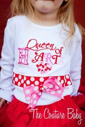 Queen of Hearts Ribbon Lip Shirt