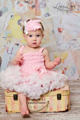Pretty Pink Rosette Petti Dress