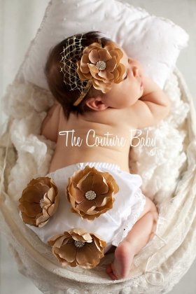 Flower Bloomer & Headband Photo Prop Set - Couture Your WaySet - Couture Your Way