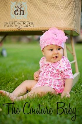 Pink Damask Ruffle Onesie