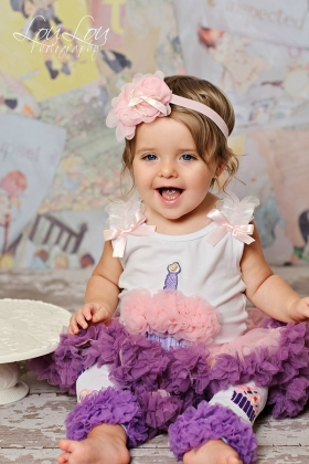 1st Birthday Cupcake Pink, Purple & Lavender 2 Piece Pettiskirt Set