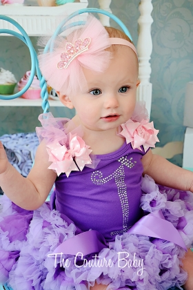 Rapunzel Princess Crystal Birthday Pettiskirt Set 1,2,3