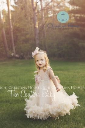 Vanilla Blush Feather Dress