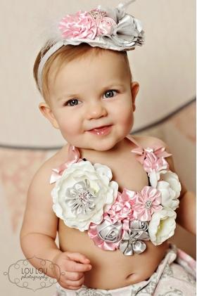 Pink & Silver Swanky Floral Bib Necklace