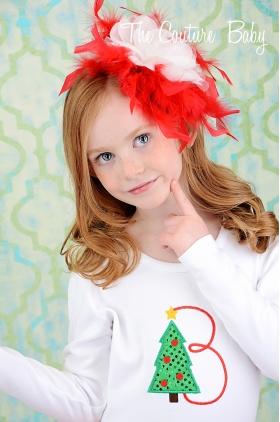 Christmas Tree Initial Onesie or Top