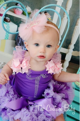 Rapunzel Princess Crystal Birthday Pettiskirt Set 1,2,3