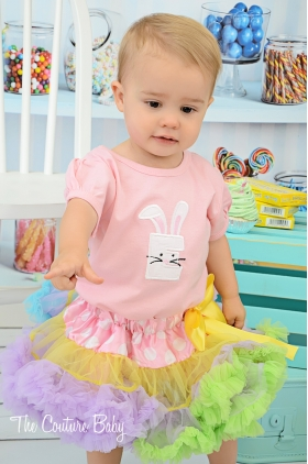 Pink Easter Bunny Initial Shirt