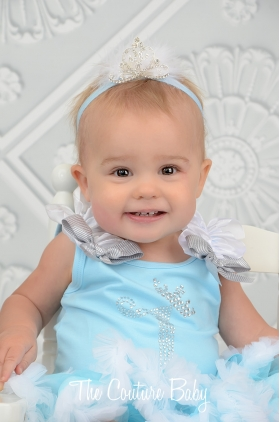 Elsa Crystal Birthday Pettiskirt Set