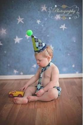 Boy's 1st Birthday 3 pc Argyle Cake Smash Set
