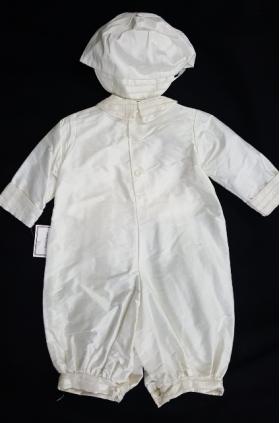 Boy's Christening Set Ivory Knicker Style & Hat (3m