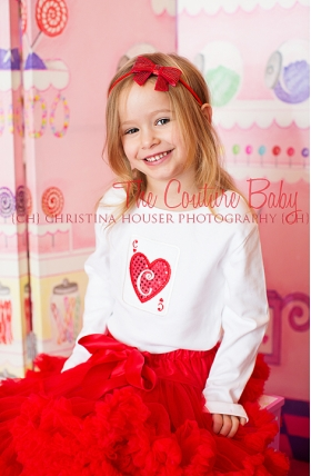 Queen of Hearts Card Initial Shirt