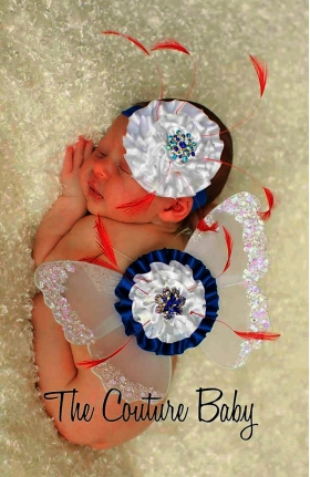 Patriotic Butterfly Wings & Headband Set