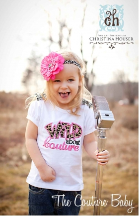Wild About Couture Leopard Cheetah Print Personalized Girl's Shirt or Onesie