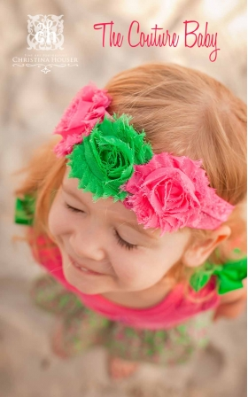 Shabby Kiwi Strawberry Headband - The Couture Baby   Child Boutique c447a38e25d