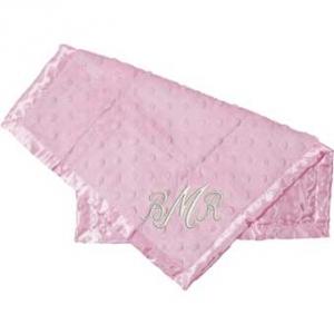 Pink Satin Dot Blankie