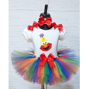 Elmo Birthday Tutu 3 Piece Set