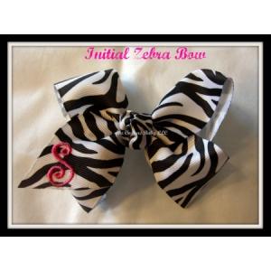 Zebra Initial Bow