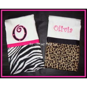 Animal Print Burp Cloths