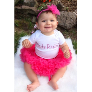 Girls Rule Swarovski Crystal Onesie or Shirt