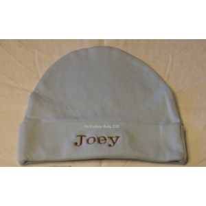 Light Blue Personalized Childs Hat