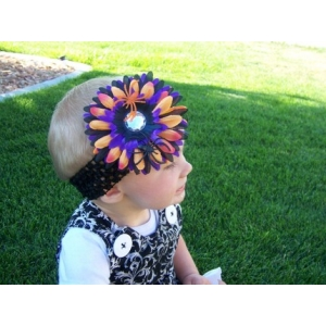 Halloween Spooky Spider Flower Headband