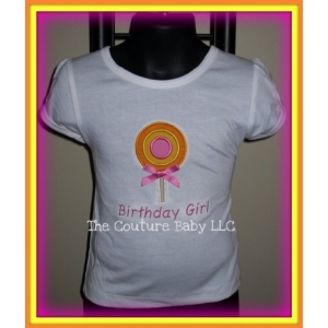 Lollipop Personalized Embroidered Swirl Shirt