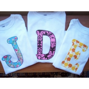 Applique Initial T-Shirt