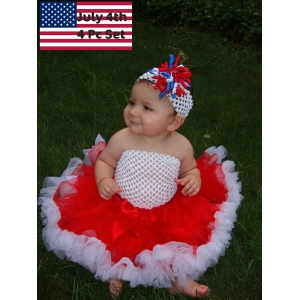 July 4th Petti Skirt  3 pc.Set
