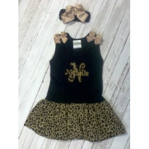 Leopard Tank Dress & Bow