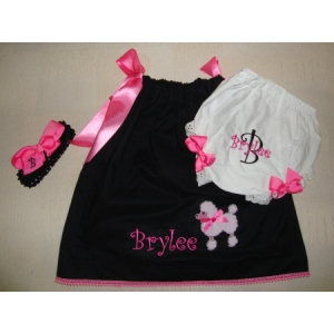 Ooh La La Poodle Dress Set