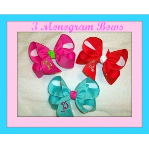 Large Personalized Ribbon Bows