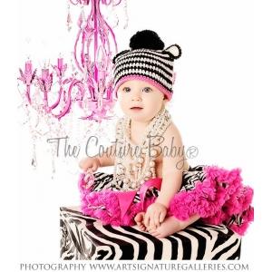 Zebra Print Pettiskirt & Hot Pink Chiffon Ruffles