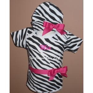 Zebra Print Personalized Onesie & Hat