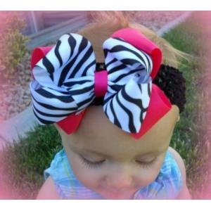 Zebra & Hot Pink Headband