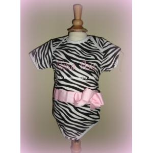 Personalized Zebra Print Onesie