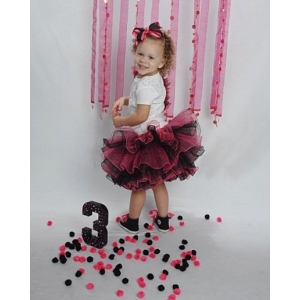Hot Pink & Black Layered Tutu