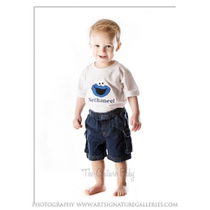 Boy's Birthday Personalized Cookie Monster Shirt or Onesie