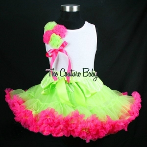 Kiwi Strawberry Bouquet Pettiskirt Set