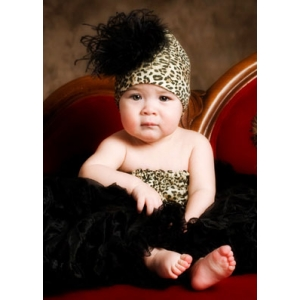 Leopard Pipette Tube Top & Headband Set