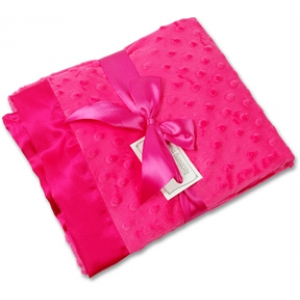 Hot Pink Personalized Minky Receiving Blanket