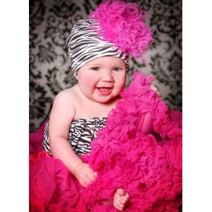 Zebra Pipette Tube Top & Headband Set
