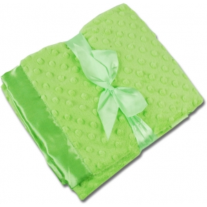 Lime Green Personalized Minky Blanket