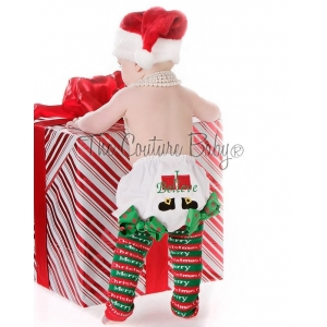 "Santa's ""I Believe"" Christmas Diaper Cover Bloomers"