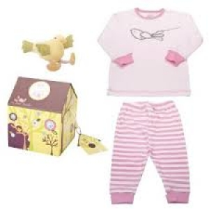 Pink Baby Bunch Bird House Pajamas