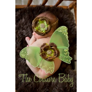 Moss Green Butterfly Wings & Headband Set