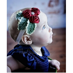 The Holly Red Berry Christmas Holiday Headband