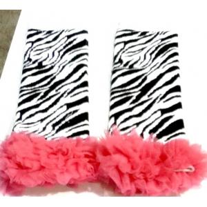 Hot Pink Zebra Ruffle Legwarmers