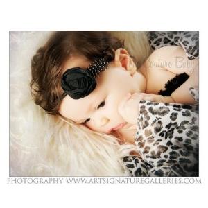 Black & White Dupioni Silk Rosette Feather Accent Headband